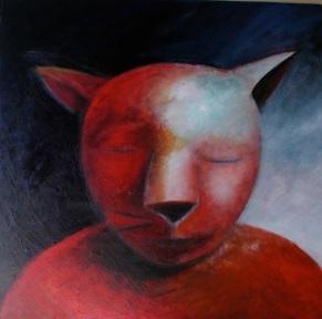 Red Cat, 36 x 36