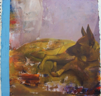 """Da Molly Lama,"" oil on canvas, 25"" x 25"", $1,000."