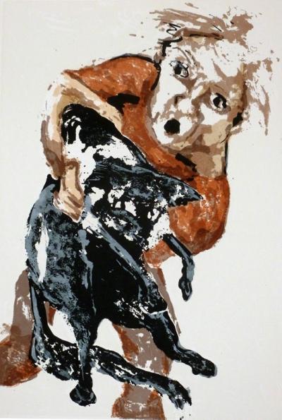 """Ink Blot IV,"" serigraph, 21"" x 14"", 2010, $350."