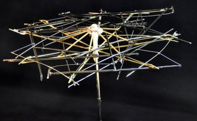 """""""Nest,"""" recycled umbrella and umbrella parts, 23"""" x 20' x 20"""", $225."""